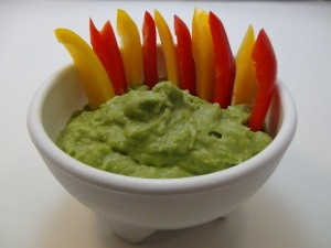 Guac with peppers