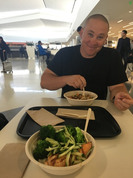 Airport lunch