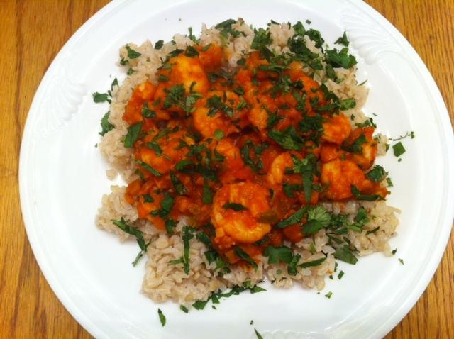 Caribbean Shrimp over Brown Rice